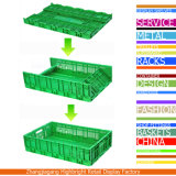 Opvouwbaar Vouwend Plastic Plantaardig Krat voor Landbouwbedrijven en Supermarkt
