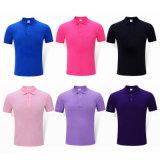 Golf-Polo-schnelles trockenes Baumwollebenen-Baumwollpolo-Unisexhemd