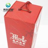 Uv-Revestimento luxuoso do ponto da caixa da bebida do presente/papel do vinho