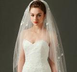 80-110 цветок края отрезока длины напальчника Cm украсил вуали венчания Bridal