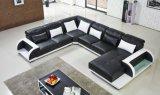 Sofá moderno do couro da mobília com grande canto para o jogo do sofá da sala de visitas