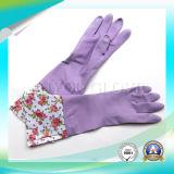 Trabajo de limpieza Guantes de látex antiácidos con buena calidad
