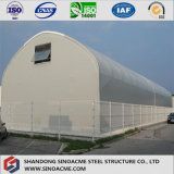 Gewölbtes Stahlaufbau-Gebäude für Lager mit reicher Erfahrung
