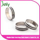 Os projetos os mais atrasados do anel de casamento do aço inoxidável para homens