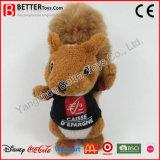 Écureuil de jouet de peluche de promotion