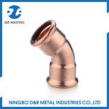 Dr. 7027 encaixe de cobre da alta qualidade cotovelo de 45 graus