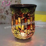 新しいデザインモザイクハリケーンの整形ガラス蝋燭ホールダーの蝋燭のコップ
