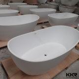 Vasca da bagno diritta libera della stanza da bagno di superficie solida di pietra acrilica sanitaria degli articoli