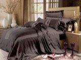 La plaine a teint le jeu en soie réglé de feuille de mûre de série d'élégance de la soie 22 de Momme de literie sans joint de luxe simple en soie de linge de lit
