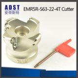 Ferramentas do cortador do moinho de face dos acessórios Emr5r-S63-22-4t do CNC para a máquina de trituração