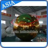 Espelho inflável gigante impresso Balão de ouro para decoração