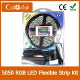 매우 밝은 SMD5050 유연한 RGB LED 지구 24V