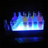 El acrílico transparente enciende para arriba el sostenedor de la visualización de Glorifier de la botella del licor para la cerveza