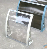Neues materielles Polycarbonat-Tür-Sonnenschutz-Regen-Deckel-Kabinendach mit Wasser-Rinne
