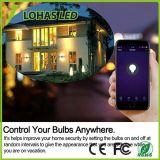 Smartphone를 가진 다색 색깔 LED WiFi 전구 E26 3W 5W는 APP 통제를 해방한다