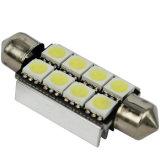 Bulbo do diodo emissor de luz do festão do branco 5050-8SMD-41mm C5with da luz do carro do diodo emissor de luz de Canbus