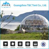 金属フレームのガラス繊維FRPのドームの家のテントは、販売のための測地線を半球形に作る