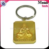 Custom Supply Ligue o logotipo do logotipo do Buddhism gravado quadrado do ouro