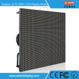 구부려진 풀 컬러 단계 P3.91mm 옥외 임대료 LED 영상 벽