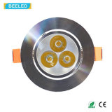 Cer RoHS 3W spiegelndes silbernes Dimmable warmes Weiß LED Downlight