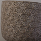 Geprägte Muster-Druck-konkrete Kerze-Glas-Dekoration