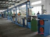 Ce/ISO9001/7 patenteia a linha Sheathing do cabo aprovado do Teflon da extrusora do cabo (plástico do flúor) em China