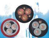 силовой кабель стальной ленты проводника 3-Core VV22 медный изолированный PVC Armored обшитый PVC