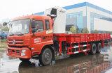 Dongfeng 6*4 트럭 16 톤은 접히는 팔 기중기 트럭으로 거치했다