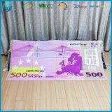 Essuie-main 100% estampé fait sur commande de velours de coton d'articles promotionnels euro