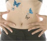 Tatuaje temporal impermeable Shaped del arte de la etiqueta engomada del tatuaje de la mariposa