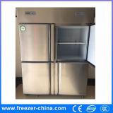 Холодильник кухни двери нержавеющей стали 4 коммерчески