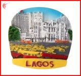 2016 ímãs novos do refrigerador da resina de Lagos do cenário para a promoção (YH-FM094)