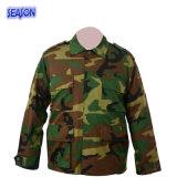 La sicurezza stampata reattiva del camuffamento della foresta copre i vestiti del rivestimento delle uniformi militari