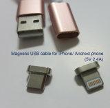 iPhone 8 Pin 번개 잭과 인조 인간 전화를 위한 자석 USB 케이블