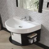 現代簡単な様式のホワイトオークの木製の浴室の虚栄心