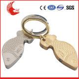 L'effet 3D Shaped fait sur commande promotionnel d'usine meurent le trousseau de clés en métal de moulage