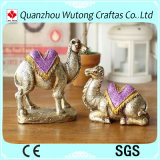 Sculture domestiche dell'animale delle statue del cammello della resina del ricordo del presente di compleanno della decorazione