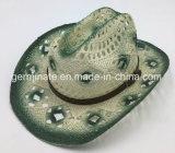 El estilo de papel impreso del vaquero del sombrero de paja de ahueca hacia fuera (Sh11)