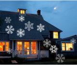 Jardin extérieur flocons de neige de Noël Lumières de projecteur étanche Paysage Light Party