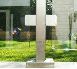 Klem van het Glas van het roestvrij staal de Vierkante voor de Leuning van het Traliewerk van de Trede