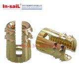 Type noix en laiton Bas-Encochée de Cl de garniture intérieure filetée