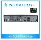 H. 265 Zgemma H5.2s Hevc плюс коробка Multistream Zgemma H5.2s+ приемника спутникового телевидения DVB-S2+DVB-S2X/T2/C установленная верхняя