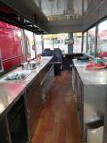 Carro móvel ao ar livre quente e popular do alimento do petisco