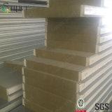 Pannello a sandwich d'acciaio del tetto della lana di vetro di Rockwool del materiale da costruzione