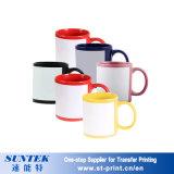 Taza de cerámica colorida cambiante del blanco del espacio en blanco de la porcelana de las tazas del color de la sublimación