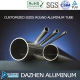 Profil carré en aluminium d'extrusion d'aluminium du tube 6063 de Rond/