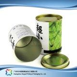 Caja de embalaje de empaquetado de papel rígida del vino del café del regalo del tubo (xc-ptp-018)