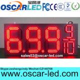 """8 """" 10 """" 12 """" 16 """" 18 """" 빨간 녹색 노란 백색 색깔 매우 호리호리한 옥외 LED 유가 표시"""