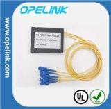 Pon/LAN/FTTX를 위한 Gpon 원거리 통신 1X4 플라스틱 상자 PLC 쪼개는 도구