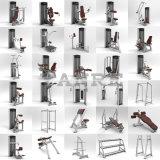 Machine de force de mollet posée par matériel de forme physique de gymnastique